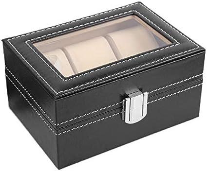 Caja de almacenamiento para 3 relojes: Amazon.es: Belleza