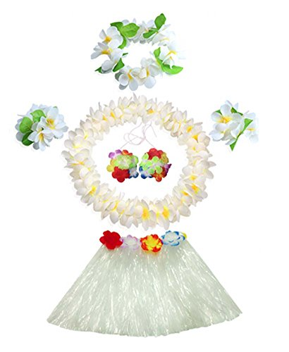[Children's Day Performance Costume Hawaiian Hula Dresses Set] (Hawaiian Hula Outfits)
