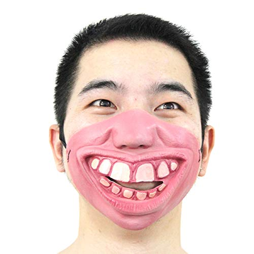 (Sala-Tecco - New!1PC Funny&Scary Vampire Mask Clown Latex Half Face Masks For Masquerade/Halloween Party Cosplay Costume Decoration Supplies)