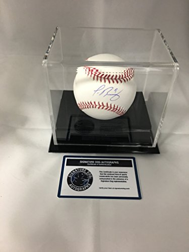 Javier Baez Autographed Signed Chicago Cubs MLB Baseball With Display Case Included (Autographed Cubs Mlb Baseball)