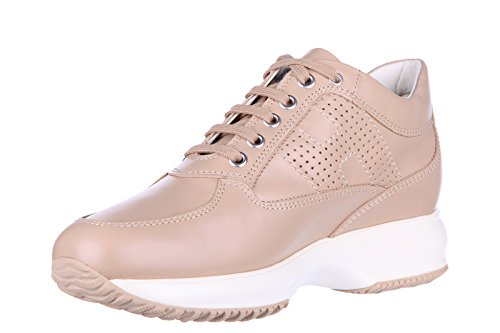 Hogan scarpe sneakers donna in pelle nuove interactive h bucata altraversione be