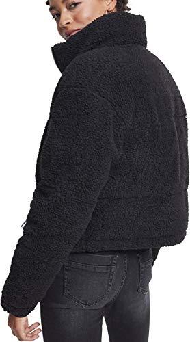 Mujer Sherpa Jacket Ladies Puffer 00007 Boxy Para Classics black Chaqueta Urban Negro twRX8Sqx