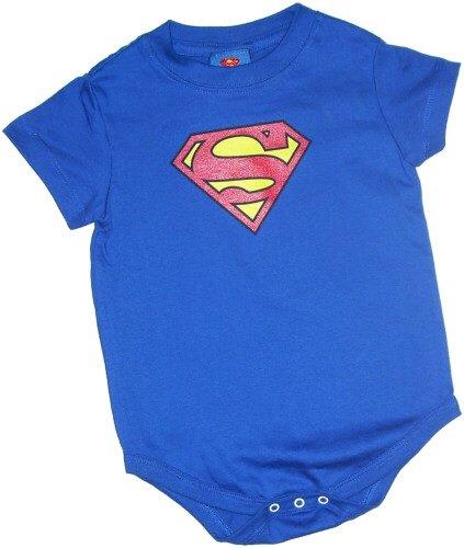 Superman Classic Shield Infant Snapsuit, 6 Months