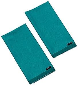 KITCHEN ACCESSORIES PLAIN TEAL (LAPIZ BLUE) COTTON BLEND PACK OF 2 TEA  TOWELS