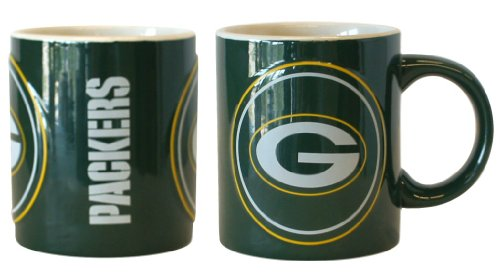 Green Bay Packers Coffee Mug - 14oz Sculpted Warm Up - Green Bay Packers Ceramic