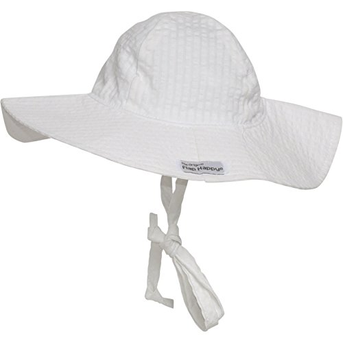 s UPF 50+ Floppy Hat, Vanilla Stripe Seersucker, X-Large (Flap Happy Floppy Hat)