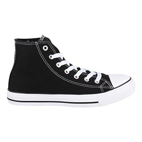 Loisirs Tejido Aus Zapatos nbsp;– Black Größer Basic Elara Deporte de nbsp;– nbsp;Zapatos Eine Top Fällt Nummer High Sneakers nbsp;Unisex de H4zqH7