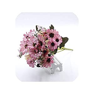 END GAME 21 Head Pack 1 Daisy Silk Wedding Bouquets for Fake Family Year Holiday Wedding Artificial Flower 41