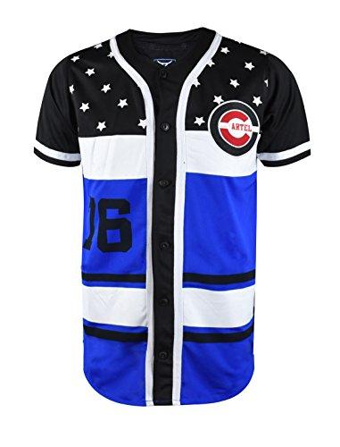 Baseball T-shirt Designs (SCREENSHOTBRAND-W11750 Mens Hipster Hip-Hop Premium Urban Tees - Stylish Street Fashion Baseball Jersey T-Shirt - Black - Large)
