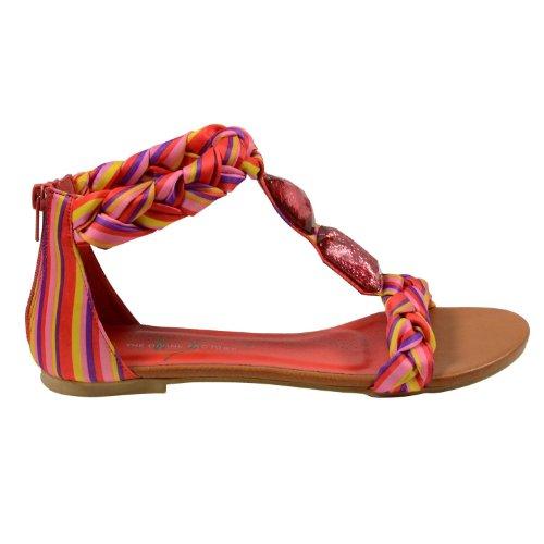 Waooh - Chaussures - Sandale tressée The Divine Factory TDF516 - Rouge