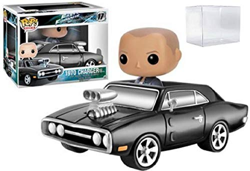 Funko Pop! Rides: Fast & Furious - 1970 Charger with Dom Toretto Vinyl Figure & Vehicle (Bundled with Pop Box Protector Case)