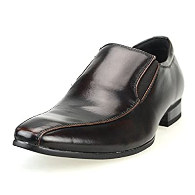 MM/ONE Mens Shoes Oxford Dress Shoes Laceup Shoes Mens Fashion Shoes Black Brown Darkbrown