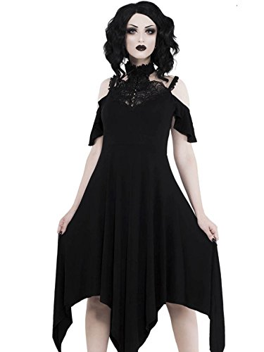 Killstar Noir Robe À Manches Courtes Femmes