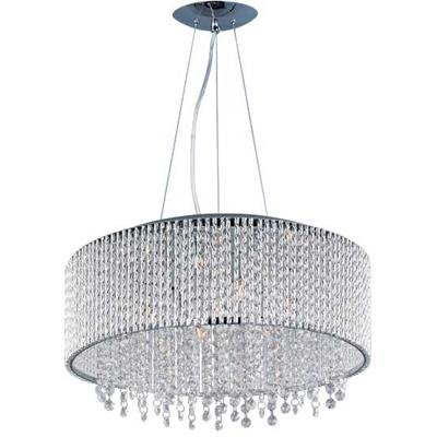 ET2 E23137-10PC Spiral 10-Light Single Pendant, Polished Chrome Finish, Glass, G9 Xenon Bulb, 7.5W Max., Dry Safety Rated, 2700K Color Temp., Acrylic Shade Material, 2646 Rated Lumens