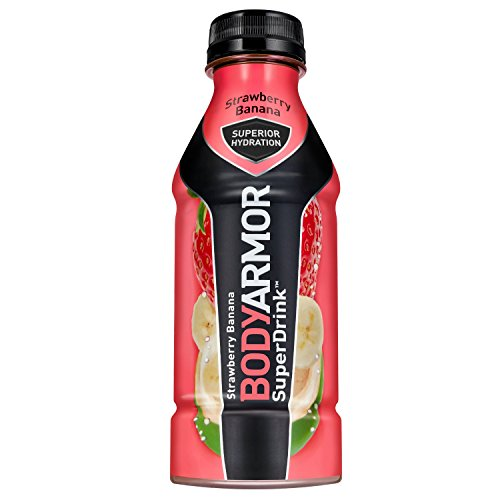 BODYARMOR Sports Drink Sports Beverage, Strawberry Banana, 16 Fl Oz (Pack of 12), Natural Flavors With Vitamins, Potassium-Packed Electrolytes, No Preservatives, Perfect For Athletes