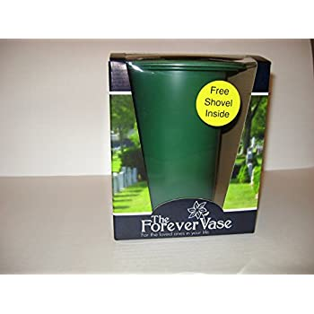 Amazon Com Novelty 05041 Metal Cone Cemetery Vase Green