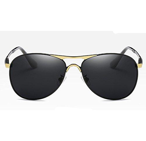 de lente Lente polarizadora metal sol C4 ZHANGYUQI la comodidad la Moda gafas C5 retro del de ligeras de de hombres los UV400 Color CYaSqw