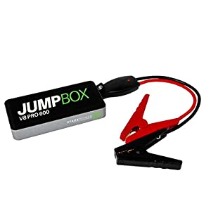 JUMPBOX 600 Car Jump Starter Power Bank: JumpBox V8 Pro 600 12 Volt Battery Charger with USB