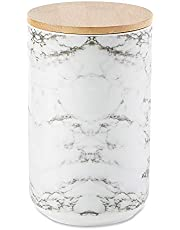 Bone Dry Ceramic Pet Collection, Canister, White Marble