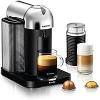 Breville Nespresso Vertuo Coffee and Espresso Machine Bundle with Aeroccino Milk Frother (Chrome)