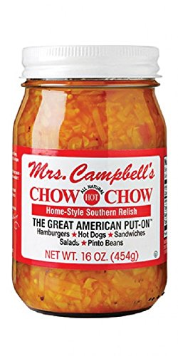 Mrs. Campbell's Chow Chow All Natural Hot Home-style Southern Relish (6 - 16 Oz Jars) by Unknown
