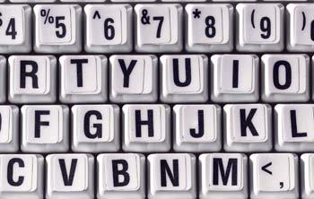 Keytop Enlargers - Black Keys / Off-White - & Black White Enlarger