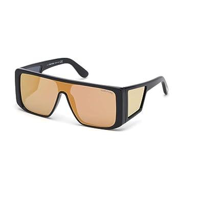 63e44b04139 Sunglasses Tom Ford FT 0710 Atticus 01G shiny black brown mirror at ...