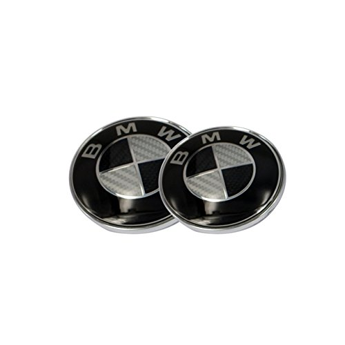 bmw emblem 82mm black - 3