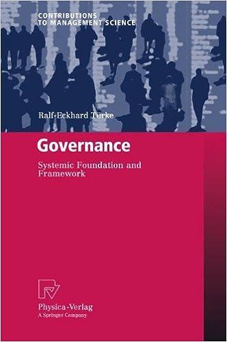 Governance: Systemic Foundation and Framework