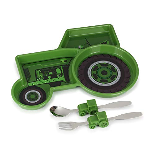 KidsFunwares UTU2HO0082 Me Me Time Tractor Kids Meal Set, Green]()