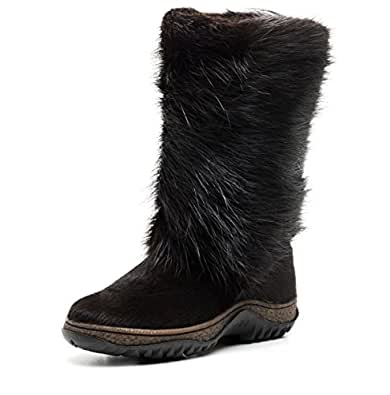 Amazon.com | MOREGOR Real Fur and Leather Winter Boots