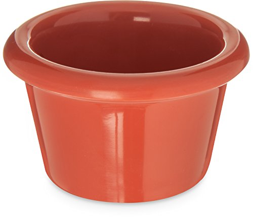Carlisle S27552 Melamine Smooth Ramekin, 1.5 oz, Capacity, Sunset Orange (Case of 48)