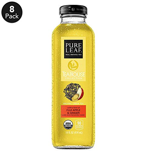 Pure Leaf, Tea House Collection, Organic Iced Tea, Fuji Apple & Ginger, 14 fl oz. glass bottles (8 Pack)
