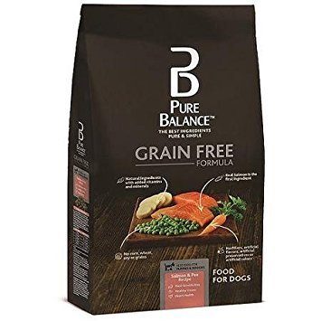 Pure Balance Grain Free Formula, Salmon & Pea Recipe, Dog Food, 4 lbs