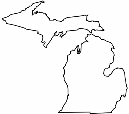 amazon com cool blank michigan state map glossy poster picture