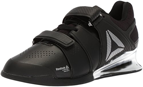 Reebok Men's Legacy Lifter Sneaker, Black/White/Silver 1, 12 M US For Sale