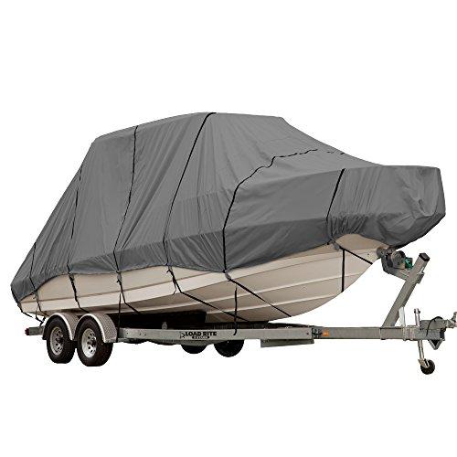 EmpireCovers Triton Gray Boat Cover: Fits Jumbo Hard Top Gray Boats 24-ft to -