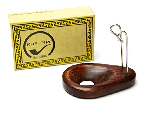 Tobacco pipe stand for 1 smoking pipe handmade by KAFpipeWorkshop Wooden pipe rack KAF1 Drop from ash tree