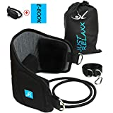 Just Relaxx Neck Head Hammock Portable Neck Shoulder Pain Relief Stretcher Cervical Traction Relaxation Device Easy to Use and to Attach at Door or Railing Can Improve Headache and Neck Mobility