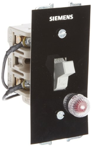 Siemens MMSK01A Fractional HP Switch, Single and 3 Phase, Open Type, Toggle Operator Type, Red Pilot Light 115VAC Switch Feature, 2 Poles (Type Toggle Operator)