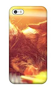 Awesome Design Cat Hard Case Cover For Iphone 5/5s by heywan
