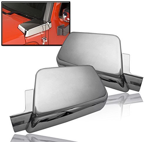 Kasei H3-VCW Fits Hummer H3 Side Air Intake Hood Vents Covers Chrome Moulding Bezel