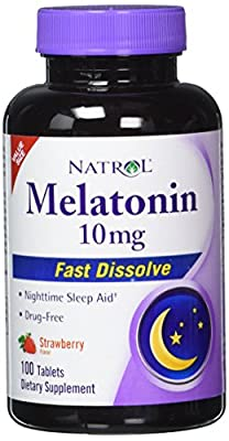 Natrol Melatonin Fast Dissolve Tablets, Strawberry flavor