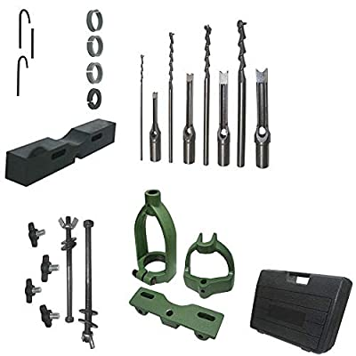 DBM IMPORTS Mortising Attachment Kit Drill Press Tenon Joint 4 Bits and 3 Reducing Collar
