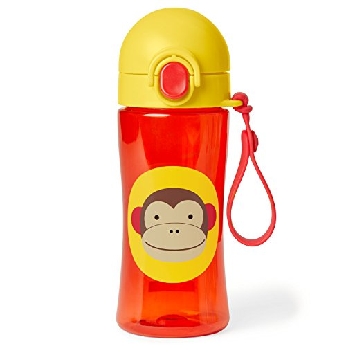 Skip Hop Zoo Lock-Top Sports Bottle, Monkey, Brown]()