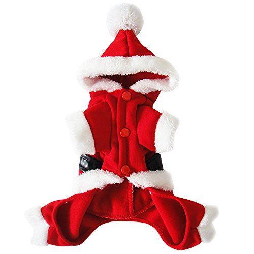 Gimilife christmas new year pet santa claus costume with