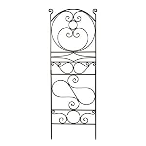 Achla Garden Patio Decor Brown Wrought Iron Ferro Firenze Trellis I Decorative Metal Outdoor Trellis