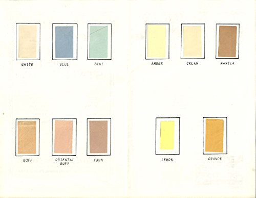Paper Color Guide for U.S. Postal Stationery