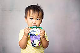 PouchBuddy (2 Pack-Turq & Orange) - Baby Self Feeding Works with Most Baby Food Pouches Including but Not Limited to Plum, Happy Tot, Happy Baby, Gerber, Other National Brands As Well As Reusable