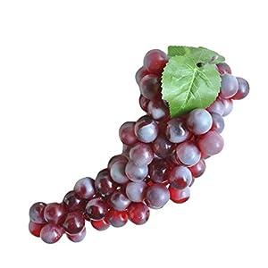 Artificial Grapes Simulation Fake Grapes Home Decoration Winery Decoration 28cm Life-Like Bunch Simulation Fruit Puper Grapes 1Pcs 2